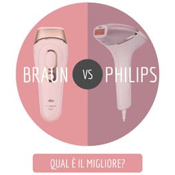 Epilaotre a luce pulsata Braun o Philips
